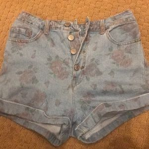 Floral denim BDG shorts